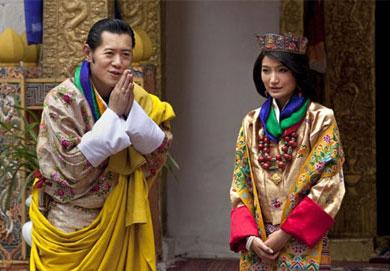 Vua và hoàng hậu Bhutan