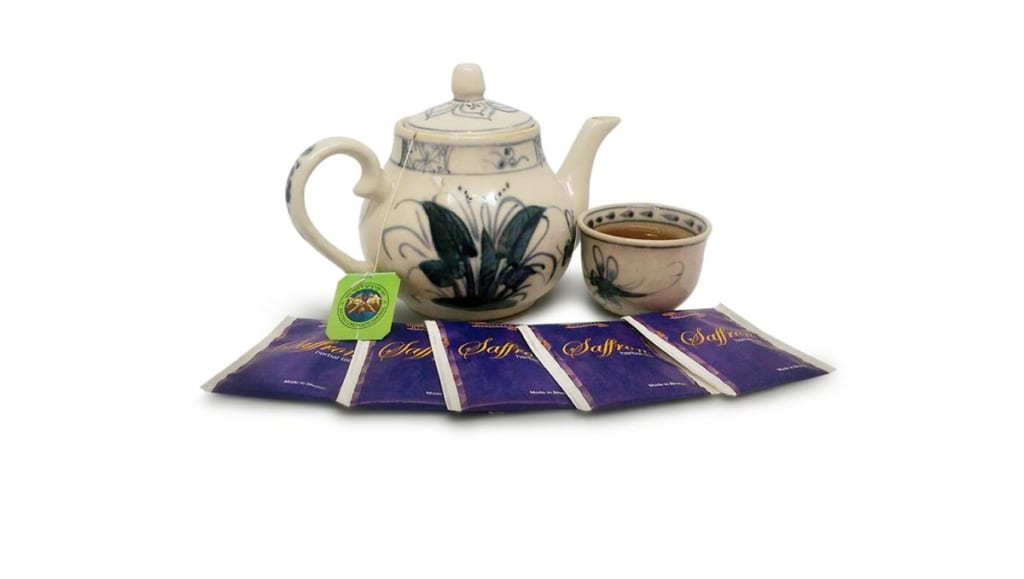 trà saffron - trà nhụy hoa nghệ tây